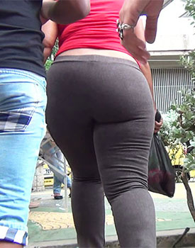 Curvy ass thick jeans women in