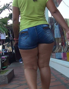 Girls shorts ass black big in short