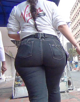 Huge Ass Cheeks In Tight Jeans